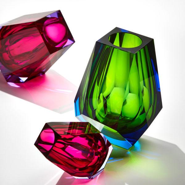 Vase aus Kristallglas - farbig - Moser - Pear Aquamarin - Stamm Vertriebs GmbH - Österreich