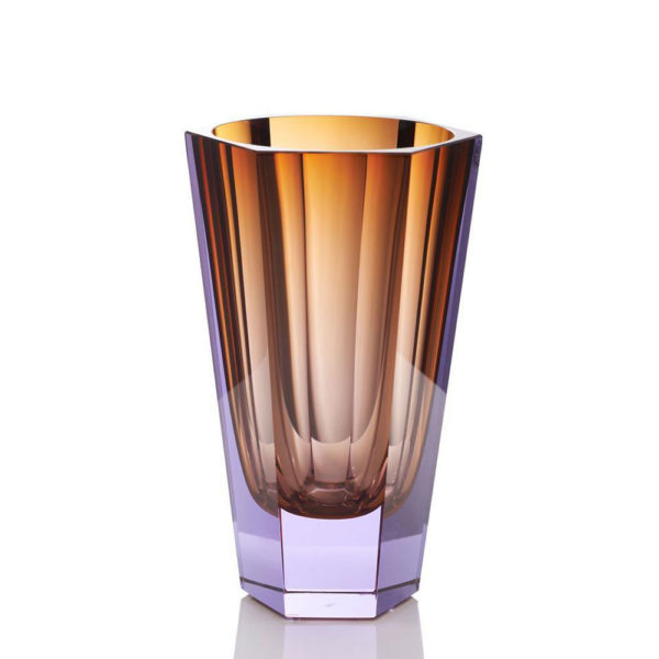 Vase aus Kristallglas - farbig - Moser - Purity Topaz Alexandrite - Stamm Vertriebs GmbH - Österreich