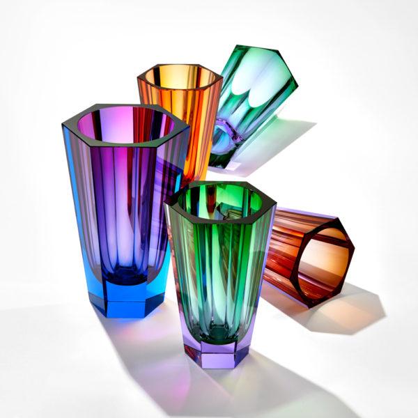 Vase aus Kristallglas - farbig - Moser - Purity - Stamm Vertriebs GmbH - Österreich