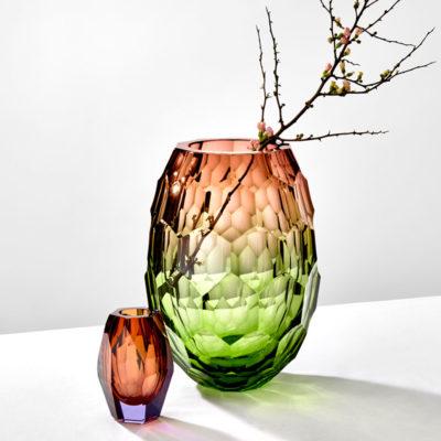 Vase aus Kristallglas - farbig - Moser - Caorle - Stamm Vertriebs GmbH - Österreich