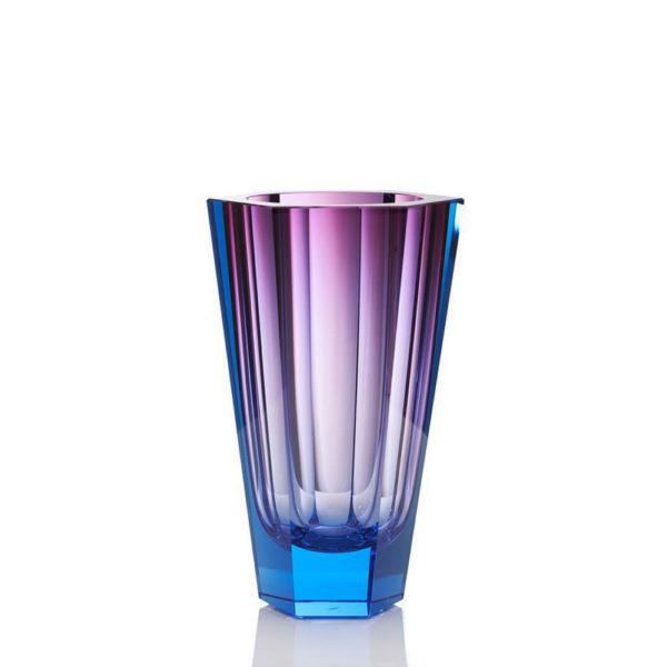 Vase aus Kristallglas - farbig - Moser - Purity rose aquamarine - Stamm Vertriebs GmbH - Österreich