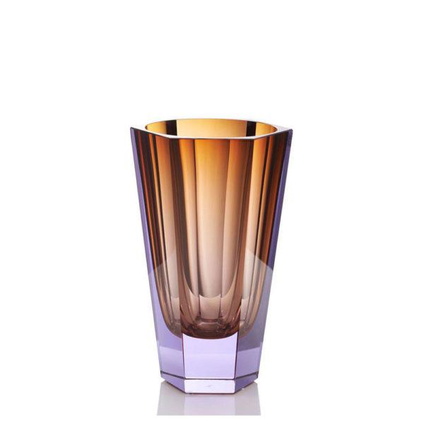 Vase aus Kristallglas - farbig - Moser - Purity topaz alexandrit - Stamm Vertriebs GmbH - Österreich