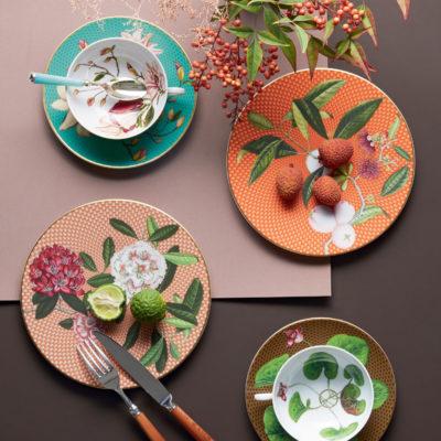 Floral gemusterter Teller - Porzellan - Raynaud - Tresor Fleuri - Stamm Vertriebs GmbH - Österreich
