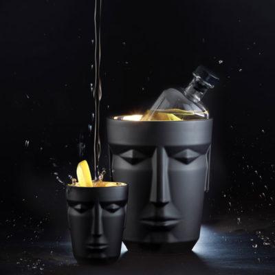 Eiskühler - Ginbecher - Cocktailbecher - schwarz mit echtem Gold - Prometheus - Sieger by Fürstenberg - Stamm Vertriebs GmbH - Österreich